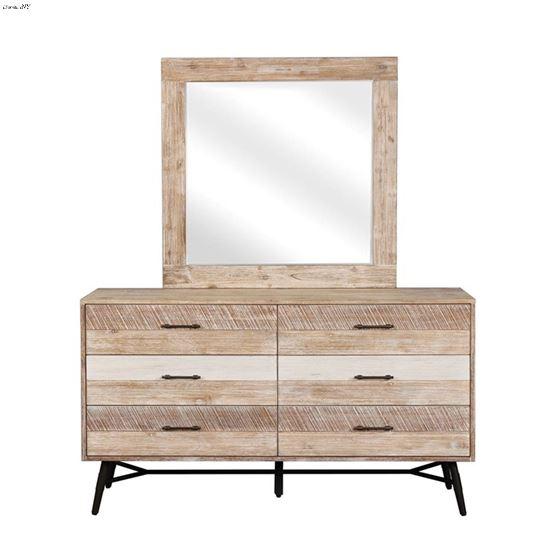 Marlow Rough Sawn Square Mirror 215764-2