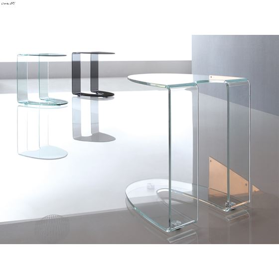 Lido Clear Glass End Table  - 4