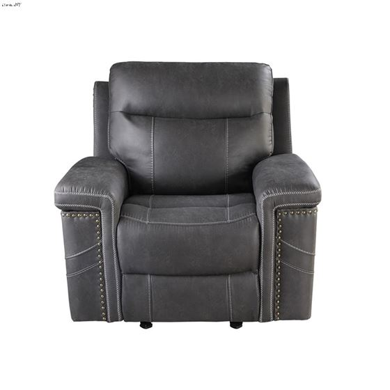 Wixom Charcoal Power Glider Recliner 603516PP