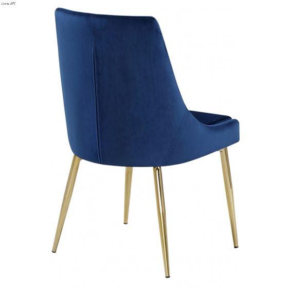 Karina Navy Velvet Dining Chair - Gold Base - 2