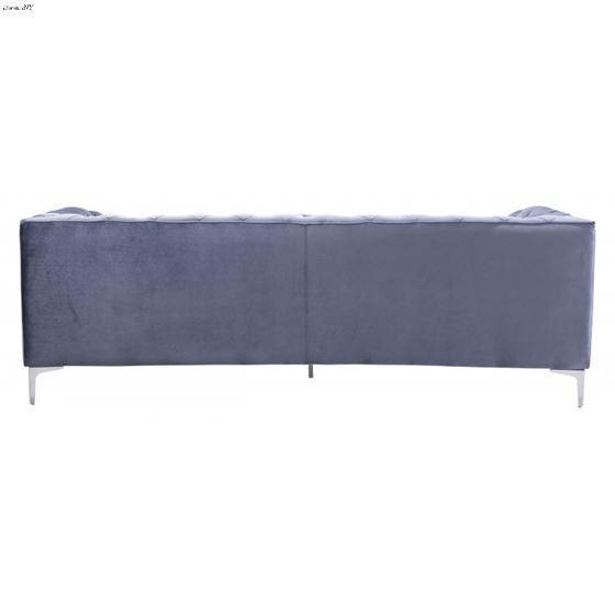 Providence Grey Velvet Tufted Sofa 900280 Back