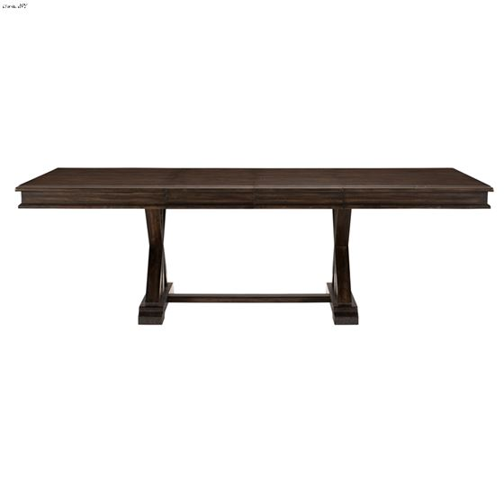 Cardano Double Pedestal Trestle Dining Table 1689-96 side