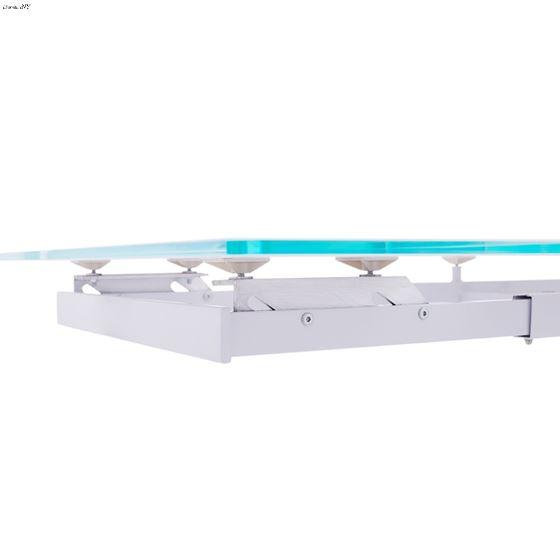 992 Modern White Dining Table Detail