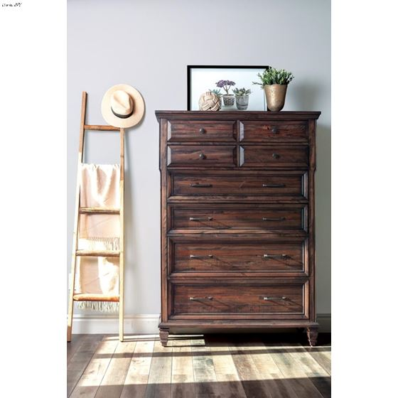 Avenue Weathered Burnished Brown 8 Drawer Chest-4