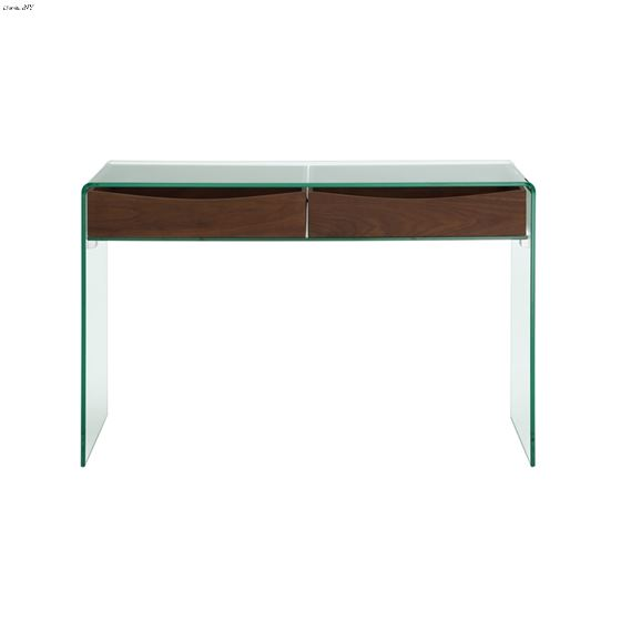Ibiza Walnut Veneer w/ Glass Console Table - 2