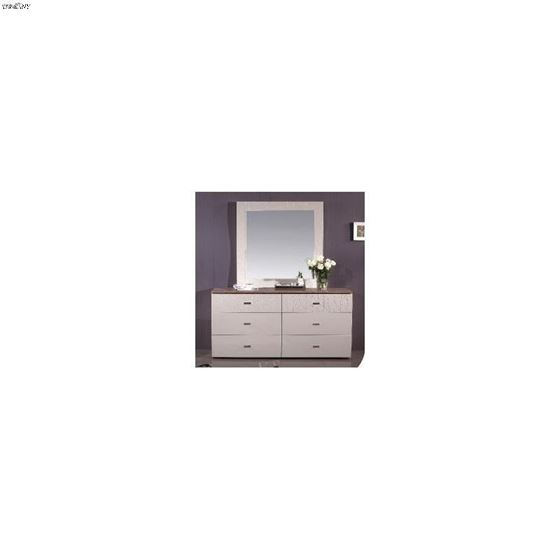 Charm High Gloss Beige 6 Drawer Dresser-2