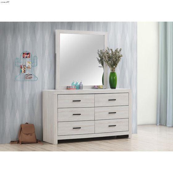 Marion Coastal White Square Dresser Mirror 20705-2