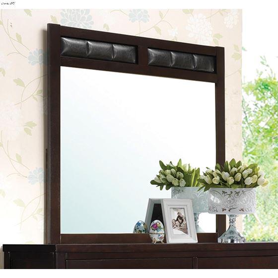 Carlton Cappuccino Rectangular Mirror 202094-2