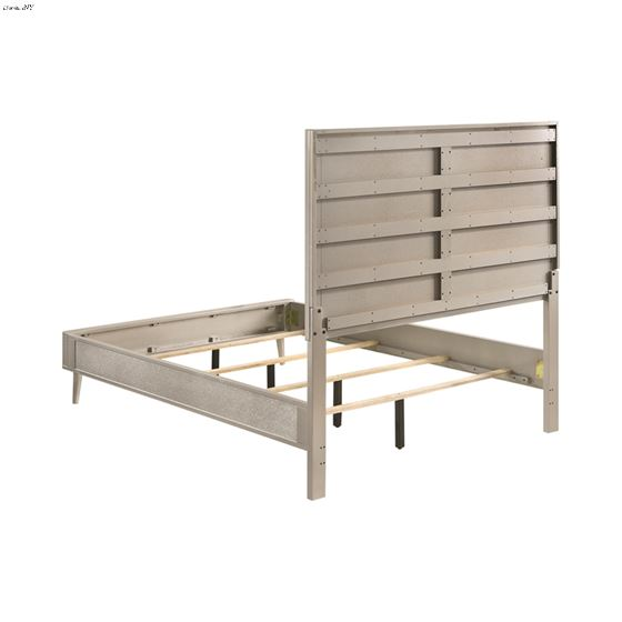 Ramon Metallic Sterling King Panel Bed 222701KE-4