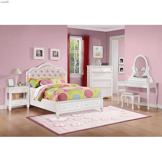 Caroline White Vanity Mirror 400727-2
