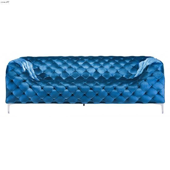 Providence Blue Velvet Tufted Sofa 900282 Front