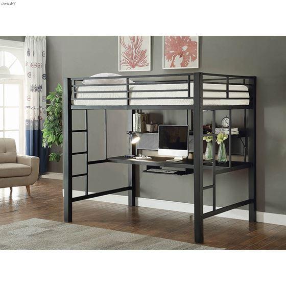Coaster 460023 Loft Bed Black