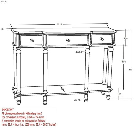 Eden Console Table 502-213 - 2