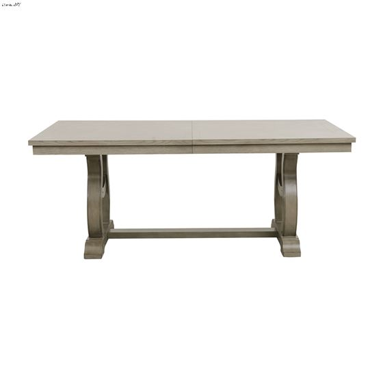 Vermillion Double Pedestal Trestle Dining Table 5442-96 side