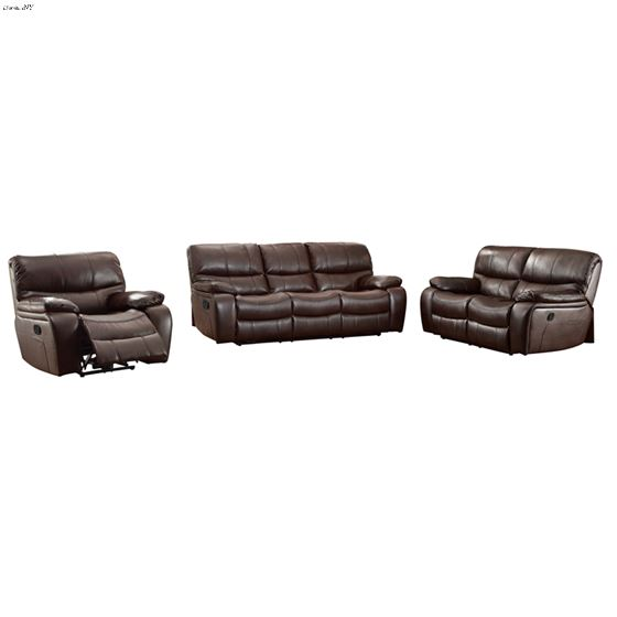 Pecos Brown Leather Reclining 8480BRW-3