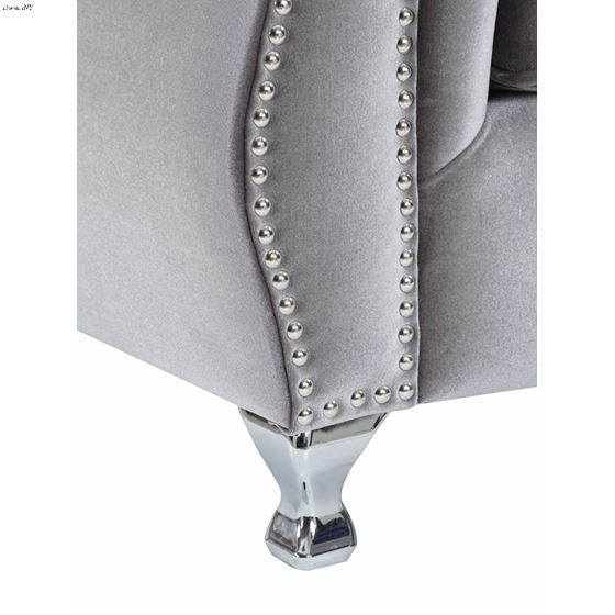 Frostine Silver Button Tufted Sofa 551161-4