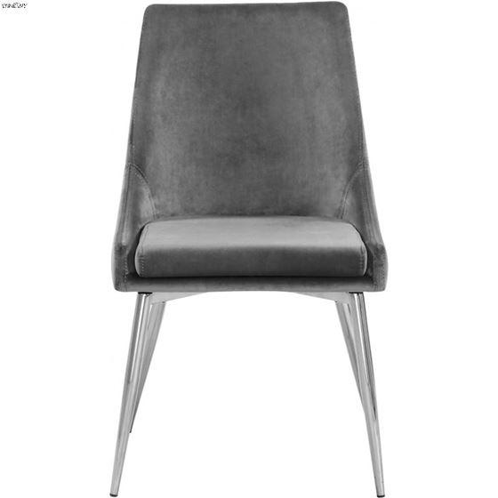 Karina Grey Upholstered Velvet Dining Chair - Ch-4
