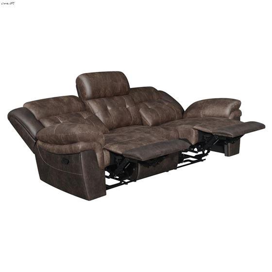 Saybrook Chocolate Tufted Cushion Reclining Sofa-2