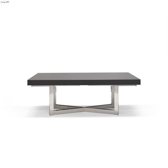 Maximo X-Base Pedestal Grey Oak Dining Table Closed