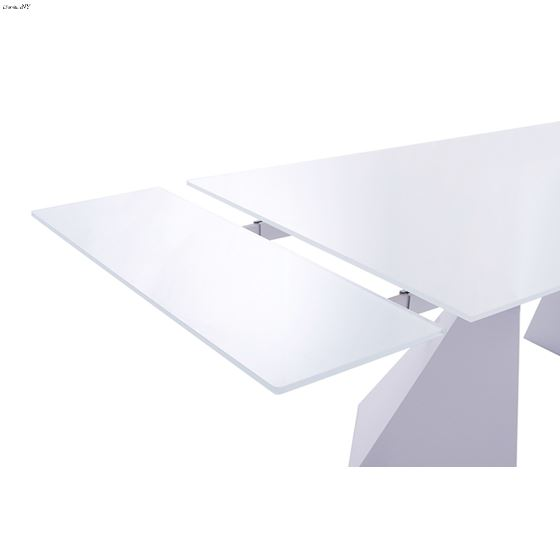 992 Modern White Dining Table Extension