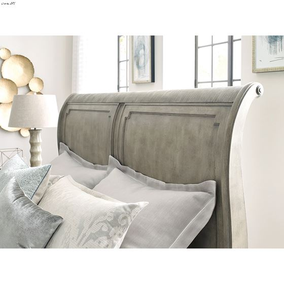 The Savona Collection King Anna Sleigh Bed detail