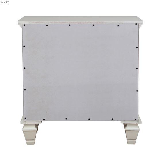 Sandy Beach White 3 Drawer Nightstand 201302-3