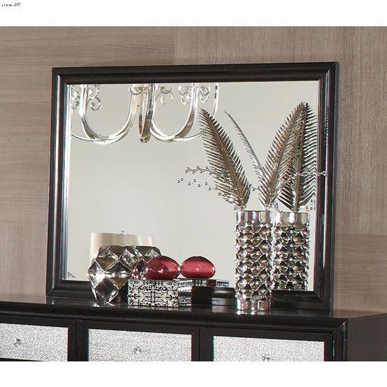 Barzini Black Rectangular Mirror 200894-2
