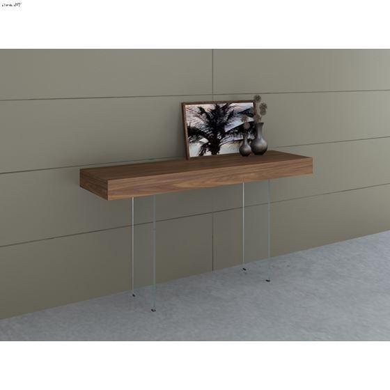 IL Vetro Walnut Veneer Console Table - 2
