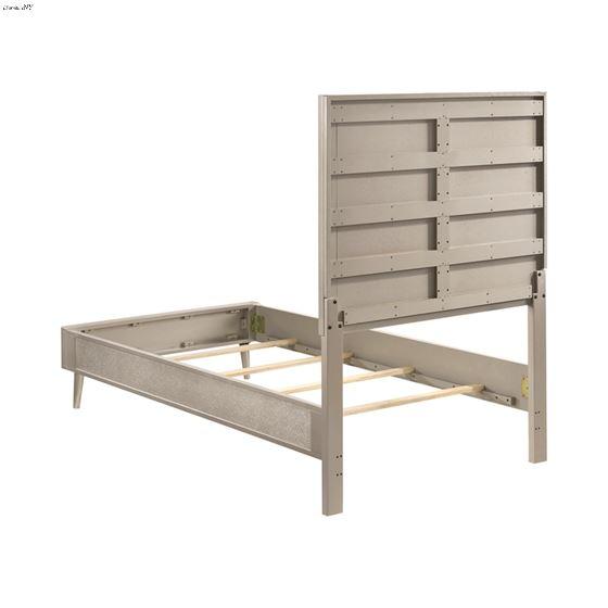 Ramon Metallic Sterling Twin Panel Bed 222701T-4