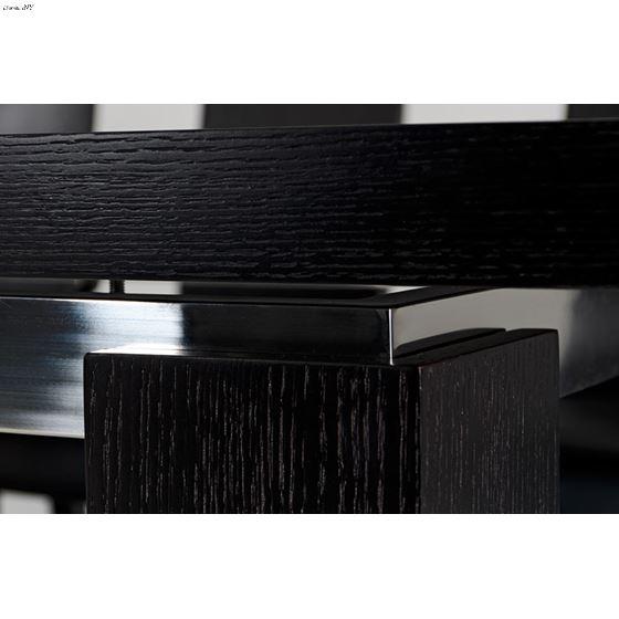 Modrest Maxi Modern Black Oak Dining Table Finish