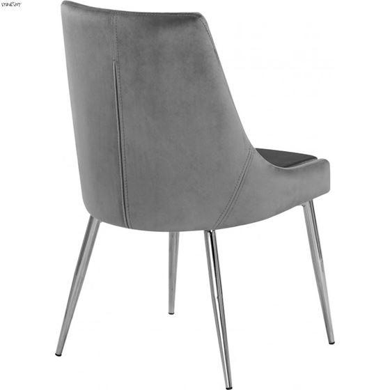 Karina Grey Upholstered Velvet Dining Chair - Ch-2