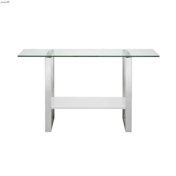 Clarity High Gloss White Lacquer Console Table - 2