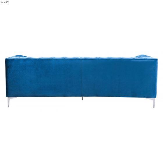Providence Blue Velvet Tufted Sofa 900282 Back