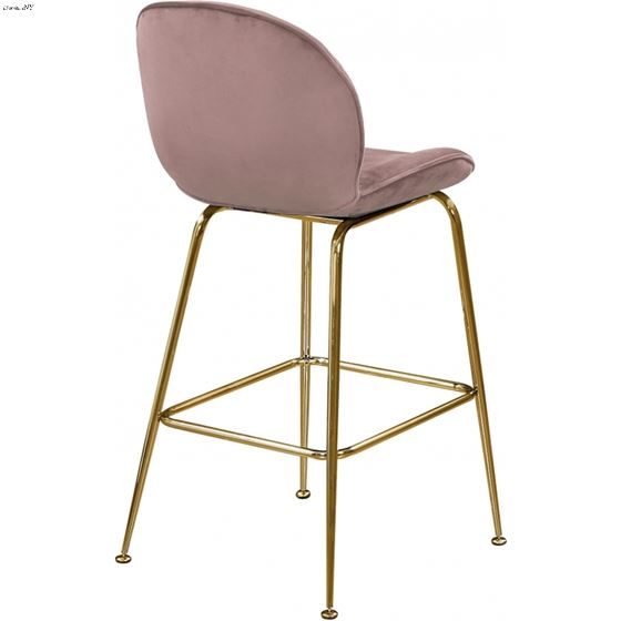 timeless design 90528 42482 Paris Pink Velvet Upholstered Bar/Counter Stool - Gold BasePink Velvet  Upholstery