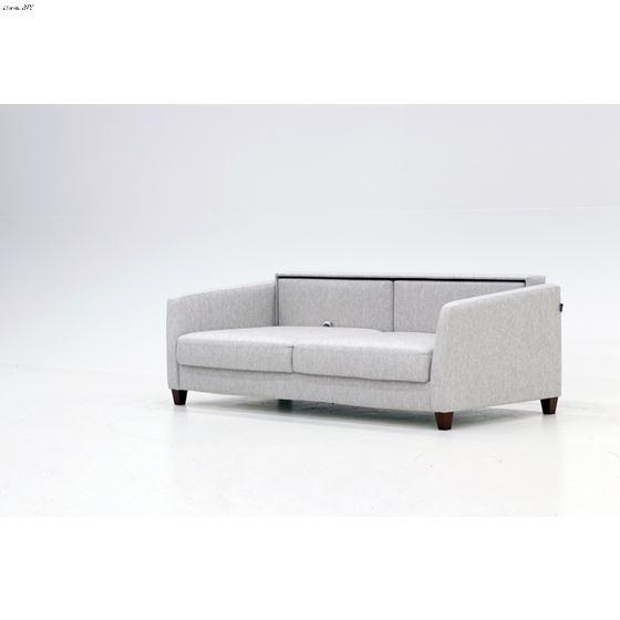 Monika King Size Sofa Sleeper Light Grey Side open1