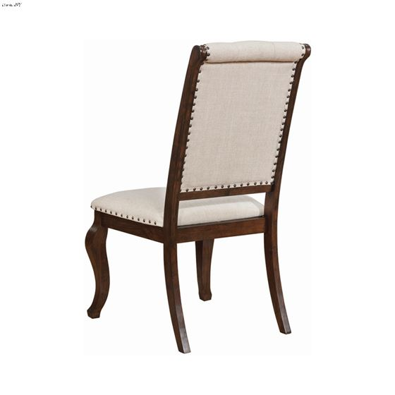 Brockway Cove Tufted Upholstered Side Chair Cream And Antique Java 110312 Back