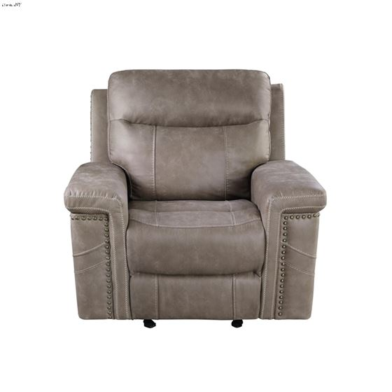 Wixom Taupe Power Glider Recliner 603519PP 2