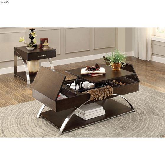 Tioga Contemporary Lift Top Coffee Table-2