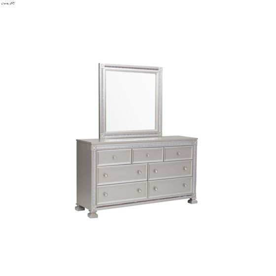 The Bevelle Silver Mirror with Dresser