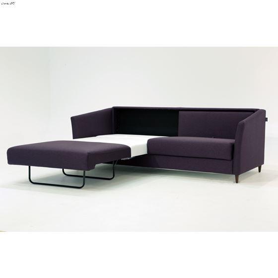 Erika King Size Sofa Sleeper Light Grey Side open1