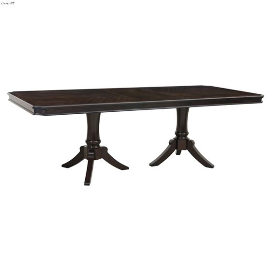 Marston Double Pedestal Dining Table 2615DC-96 Front Open
