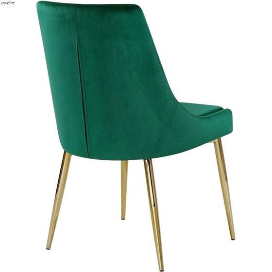Karina Green and Gold Upholstered Velvet Dining-2