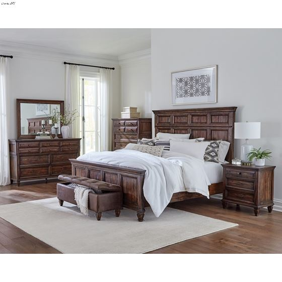 Avenue Weathered Burnished Brown King Panel Bed-2
