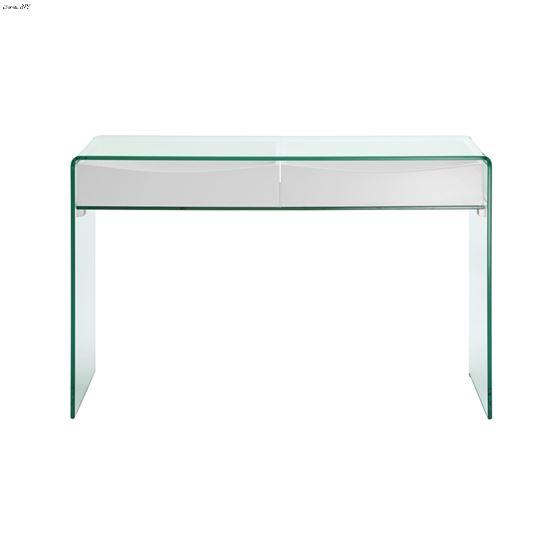 Ibiza High Gloss White Lacquer Console Table - 2