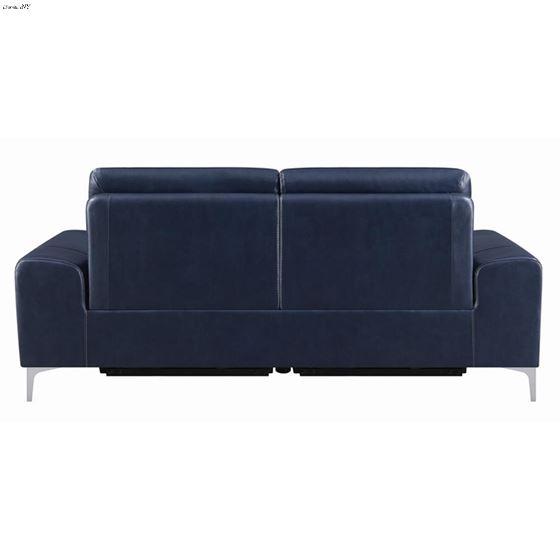 Largo Ink Blue Leather Power Reclining Sofa 6033-4