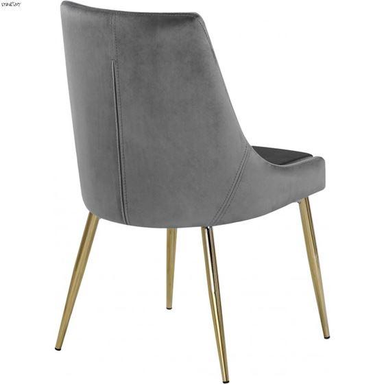 Karina Grey and Gold Upholstered Velvet Dining C-2
