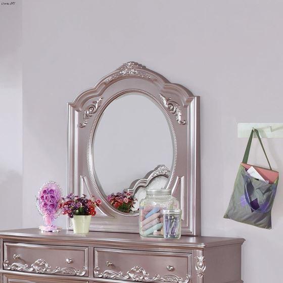 Caroline Metallic Lilac Framed Arched Mirror 400-2