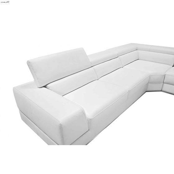 Astounding Divani Casa 5106 Modern White Italian Leather Sectional Sofawhite Leather Andrewgaddart Wooden Chair Designs For Living Room Andrewgaddartcom