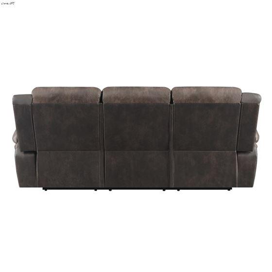 Saybrook Chocolate Tufted Cushion Reclining Sofa-4