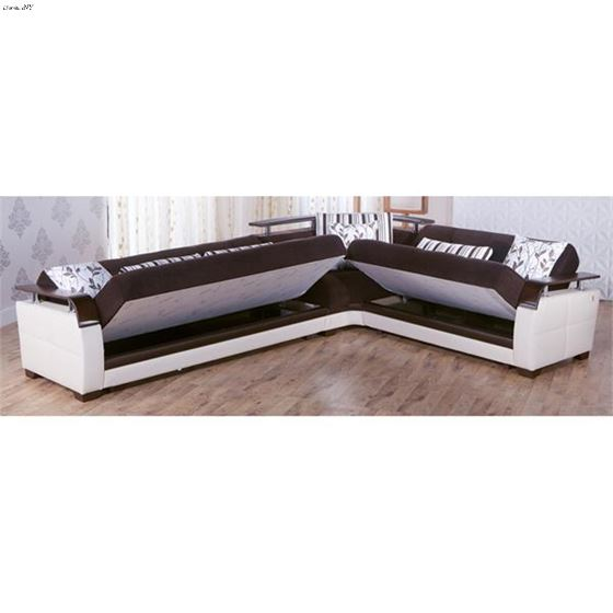Natural Colins Brown Sectional - Storage